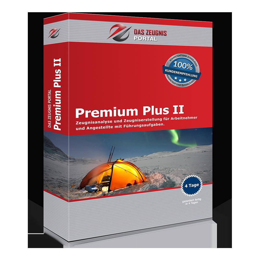 Premium Plus II - Zeugnisanalyse und Zeugniserstellung für Arbeitnehmer und Angestellte mit Führungsaufgaben.