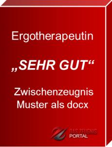 Musterzeugnis Ergotherapeutin Note 1