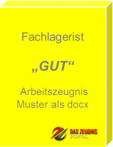 Musterzeugnis Fachlagerist Note 1