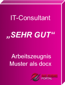 Musterzeugnis IT-Consultant Note 1