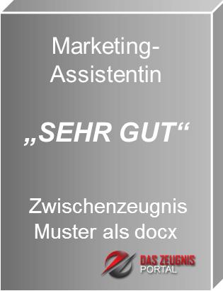 Musterzeugnis Marketing Assistentin Note 1