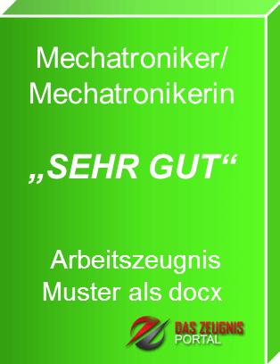 Musterzeugnis Mechatroniker Note 1