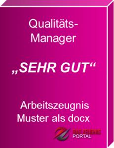 Musterzeugnis Qualitätsmanager Note 1